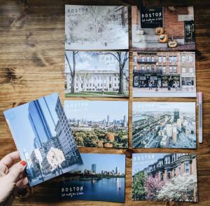 Cartes postales Boston le nez en l'air