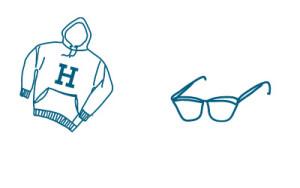 harvard pull et lunettes