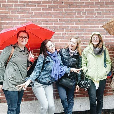 visiter boston sous un parapluie