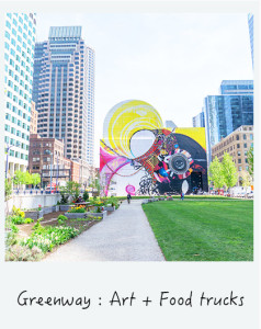 Se promener le long de la Greenway a Boston : food trucks et art contemporain