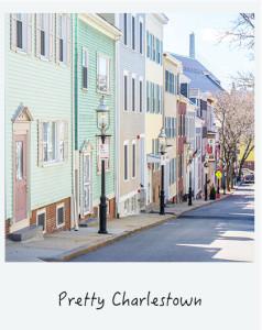 Marcher dans le joli quartier de Boston : Charlestown
