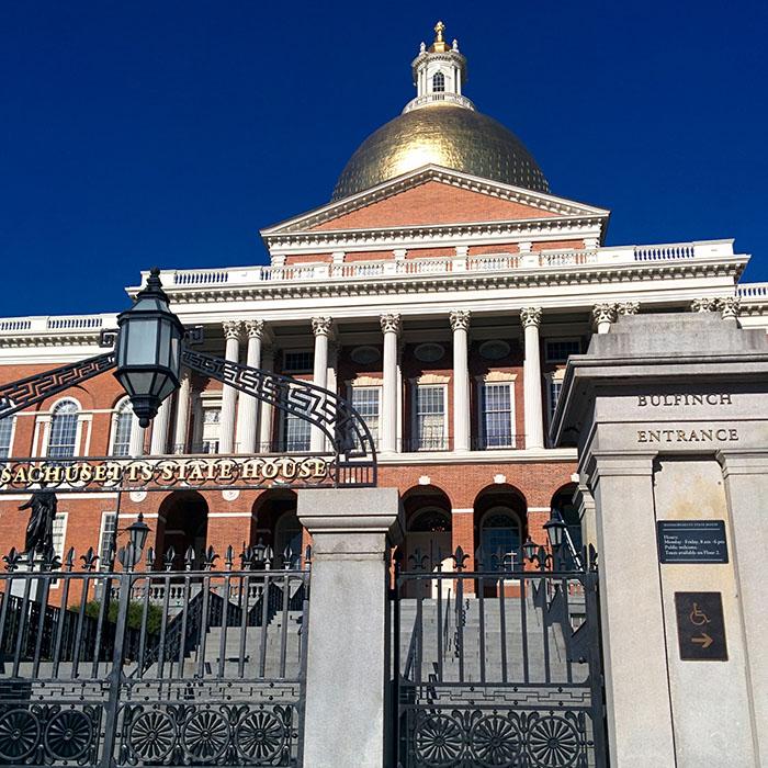 Massachusetts State House Boston Freedom Trail