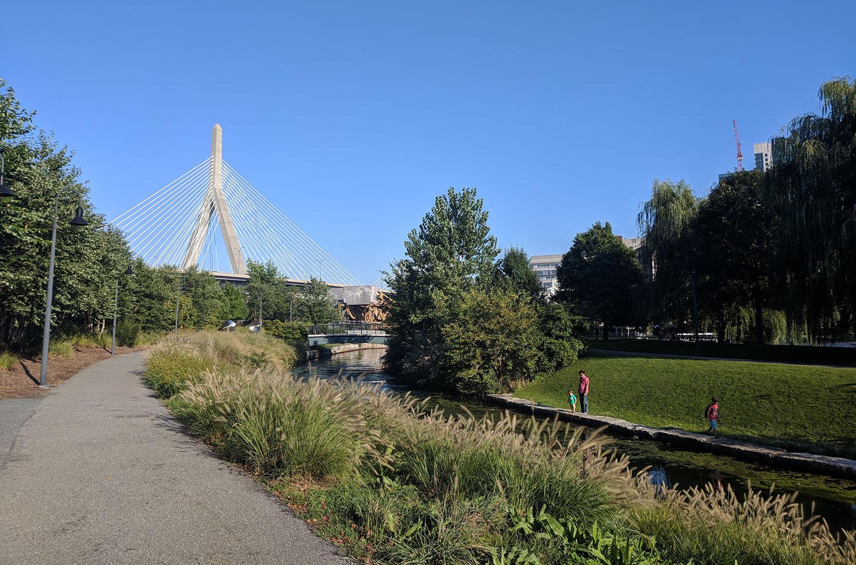 Boston en septembre - Zachim bridge
